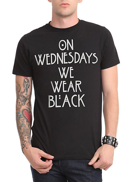 We Wear Black On Wednesdays Shirt | Artee Shirt