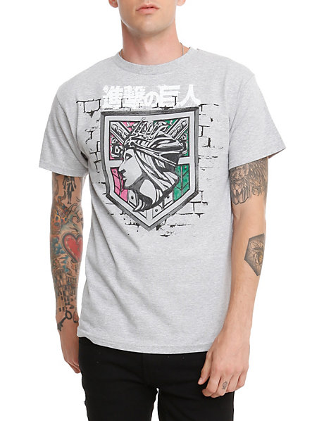 Attack on Titan Shirt Hot Topic Attack on Titan Shield t Shirt
