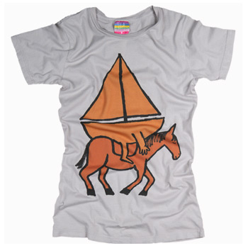Women s boat on horse tee t shirt palmercash t shirt review for Werner herzog t shirt